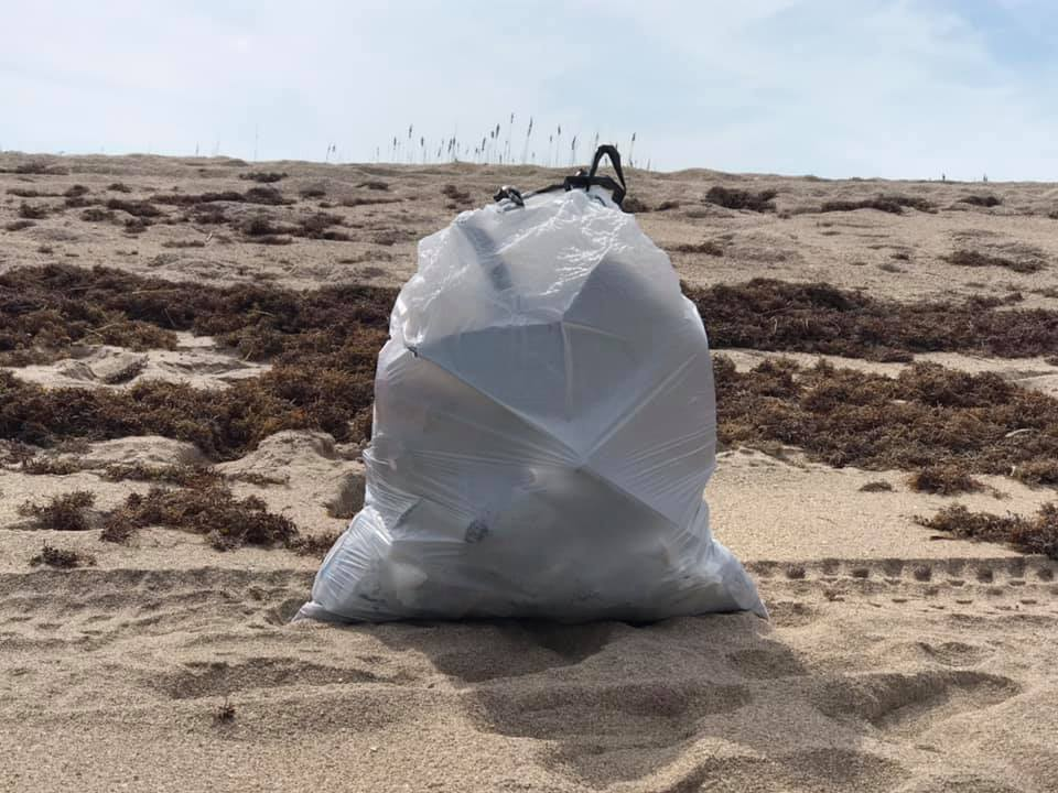 Picked up beach plastic - 1