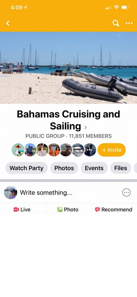 Faebook Group - Bahamas Cruising and Sailing