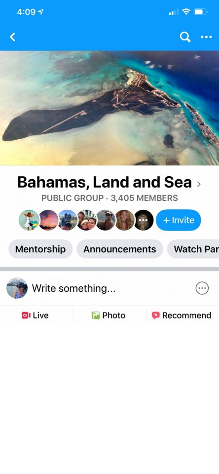 Facebook Group - Bahamas Land and Sea
