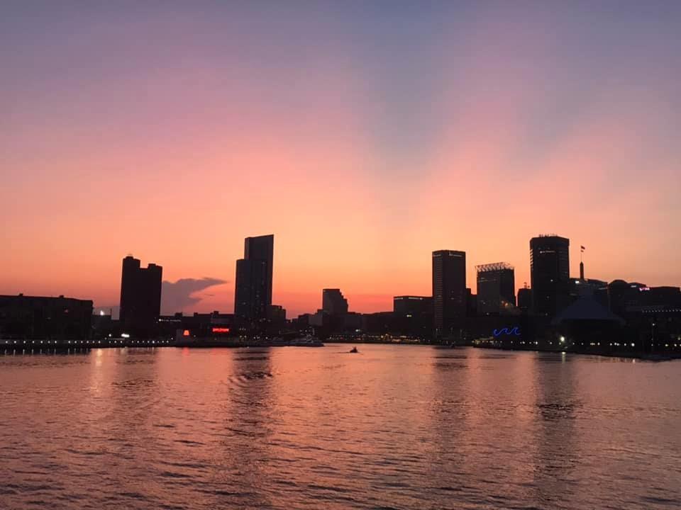 Bmore Inner Harbor sunset