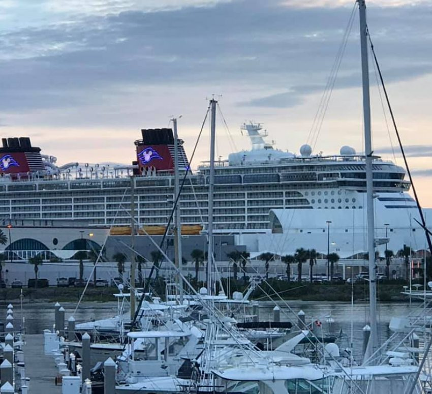 Large cruise ship Port Canaveral - Disney