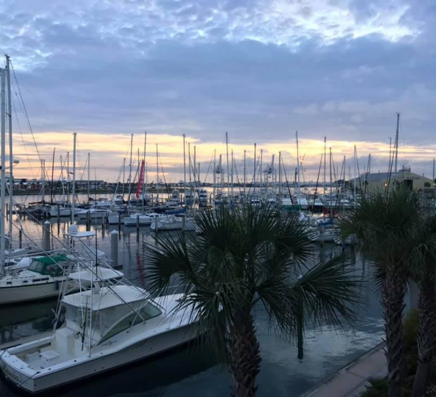 Sunrise in Port Canaveral