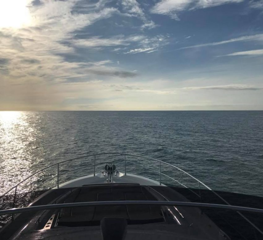 Back out into the Atlantic