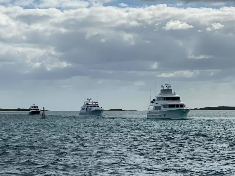 Boats following us