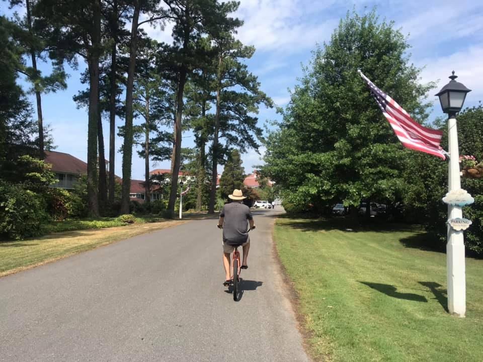 Biking up