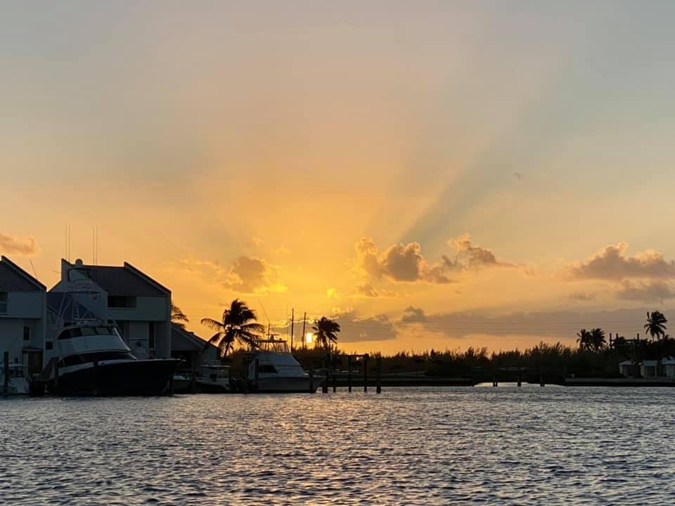 Cape Eleuthera sunrise in the marina