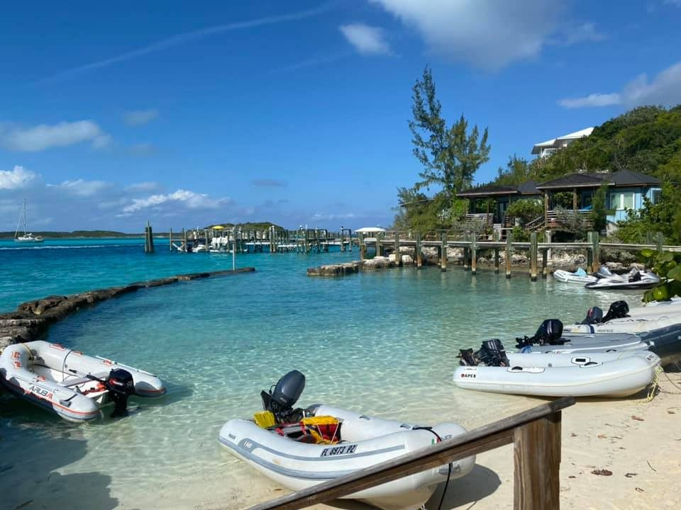 Staniel Cay dinghy dock