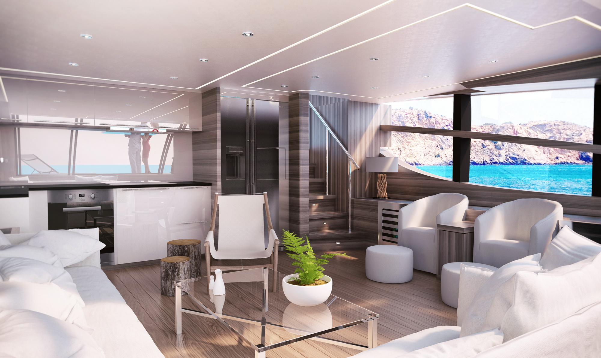 VAN DER VALK BeachClub 600 - Interior Ibiza lower saloon 1